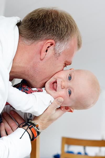 Max och pappa Fredrik